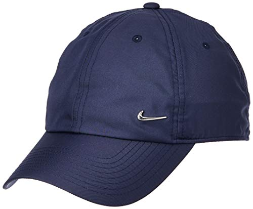 Nike U NSW H86 Cap NK Metal Swoosh, Casquette de Baseball Mixte, Bleu (Obsidian/Metallic Silver 451), Taille Unique (Taille Fabricant: MISC)