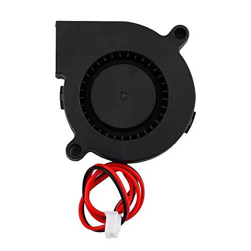 Voluxe Ventilador para Impresora, Ventilador de enfriamiento de Alta Velocidad de rotación, 50 * 15 mm DC 12 / 24V para Enfriar disipadores de Calor en los Extremos Calientes Piezas de(24V)