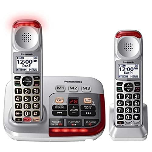 Panasonic KX-TGM450S + (1) KX-TGMA45S Volume Booster Upto 50 dB Slow Talk Control Noise Reduction Talking Caller ID Amplified Cordless Phone-2 Handset