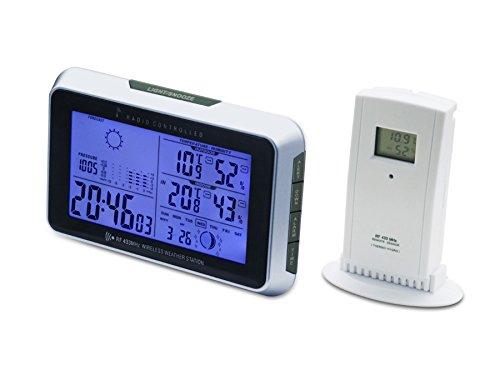 Meteo SP46 DCF Funk Wetterstation Außensensor Wetterprognose Hygrometer Thermometer DCF Wecker