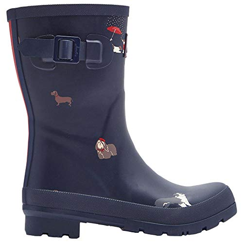 Joules Limited Molly Welly Mid Größe 39 EU Navy Dogs