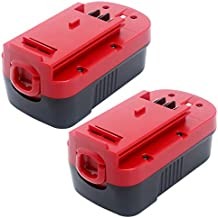 Elefly 2 Pack 18V 3.8Ah Ni-CD HPB18 Battery Replacement for Black and Decker 18V Battery HPB18 HPB18-OPE 244760-00 FS18FL FSB18, Compatible with Black & Decker 18 Volt Cordless Power Tools