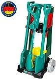 Theo Klein 2756 BoschGartenwagen, mit Zubehör, Spielzeug, Grün, Silber, Rot, Gelb