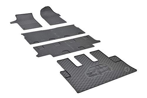 Passgenaue Kofferraumwanne und Gummifußmatten geeignet für Mercedes Vito Viano 8-9 Sitzer ab 2014