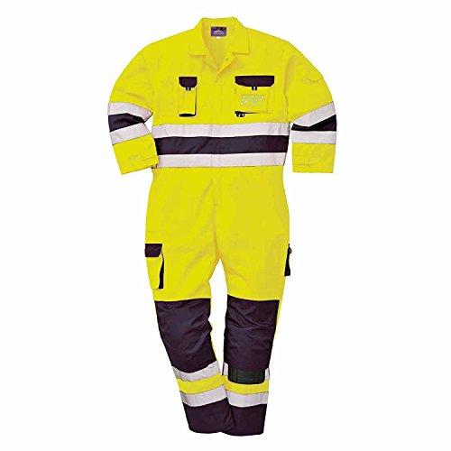 Portwest tx55ynrxxl Nantes Warnschutz-Overall, Regular, Größe: 2X Große, gelb/marineblau