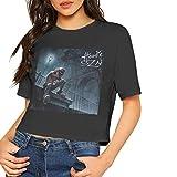 A Boogie Wit Da Hoodie Shirt Womens Sexy Dew Navel Crop Tops Tshirt Short Sleeve Bamboo Cotton T Shirt S Black