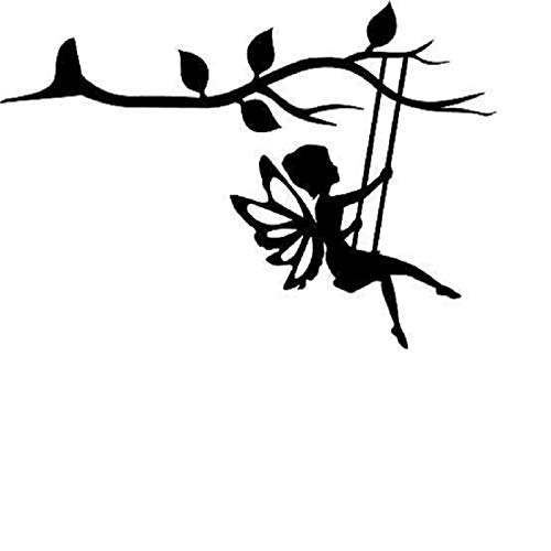 ReooLy Metal Bird,Gnome Silhouette,chickadee,Gnome on Branch Silhouette,hanging Metal Bird,Gnome Silhouette Tree Wall Art Garden Outdoor Ornament for Mother's Day Holiday ornaments,C