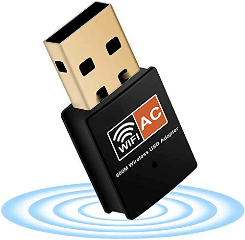 Multibao 600Mbps USB WiFi dongle adapter dual band 2.4GHz/5GHz fast high...