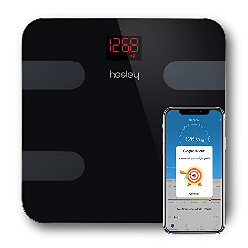 Hesley BMI Weighing Machine/Weighing Scale/Weight Machine with HesleyFIT APP and German Sensors