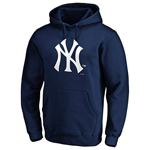 New York Yankees MLB Fan Hoody Iconic Logo Navy - XXL