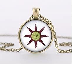 Dark Souls Solaire of Astora Sun Necklace, Dark Souls of Astora Sun Pendant Handmade