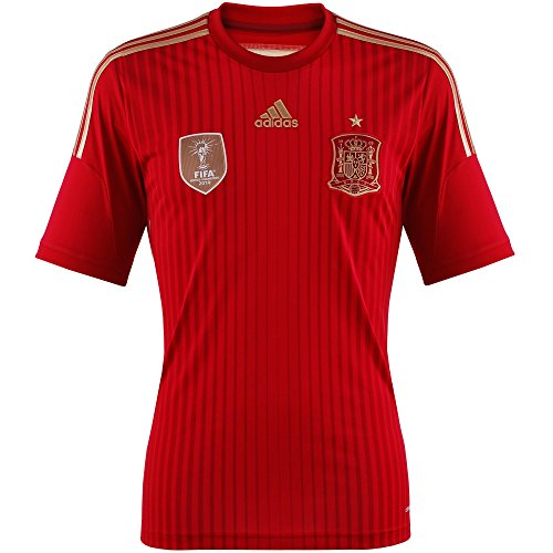 adidas Herren Trikot FEF Spanien Home, rot (Victory Red S04/Light Football Gold/Toro), XL