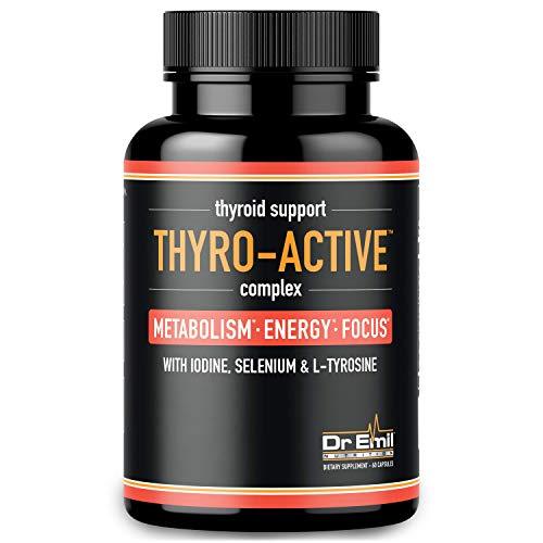 Dr Emil - Thyroid Support Supplement with Iodine - Metabolism, Energy, Focus and Mental Clarity - Doctor Formulated Complex for Hypothyroidism (Under-Active Thyroid)