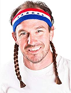 (One Size, Red and White and Blue) - The Willie Mullet Headband