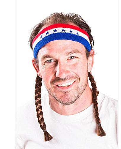 Mullet on the Go The Willie Retro Headband with Mullet