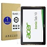 X-Dision Templado Cristal Compatible con Acer Iconia Tab 10 A3-A40,Protector de Pantalla de Vidrio Templado Premium[Sin Burbujas] [Anti-Rotura] Compatible con Acer Iconia Tab 10 A3-A40