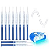 Teeth Whitening Kit, Potok Teeth Whitening Set Professional Reusable Teeth Whitening for White Teeth, Whitening Teeth At Home, 10xToothing Gel, 2x Dental Trays Gel Kit, 1x Laser Light