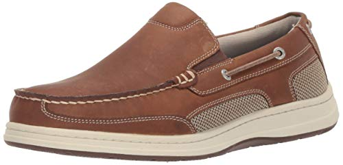 Dockers Men's Tiller Boat Shoe, Dark Tan, 10.5 W US