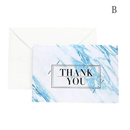WSJKHY 1 Stks Marmer Textuur Mode Bronzen Wenskaart Uitnodiging Bruiloft Dankzij Verjaardagskaart Papier Gift Bruiloft Dank Kaarten B