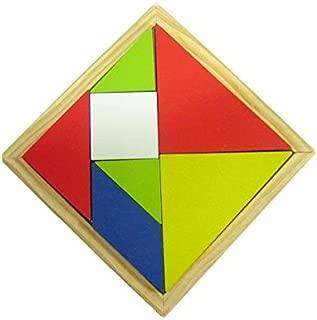 Jogo Tangram de Madeira Multicolorido