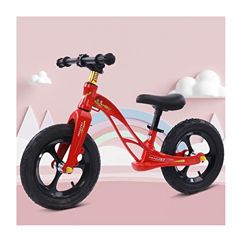 GXM-FSTOOL Balance Bike Magnesium Alloy, 12 Inch No Pedal Toddler Bike Height Adjustable Seat And Handlebars, Lightweight Sports Training Bicycle for Kids Age 2 To 6 Years Old,E