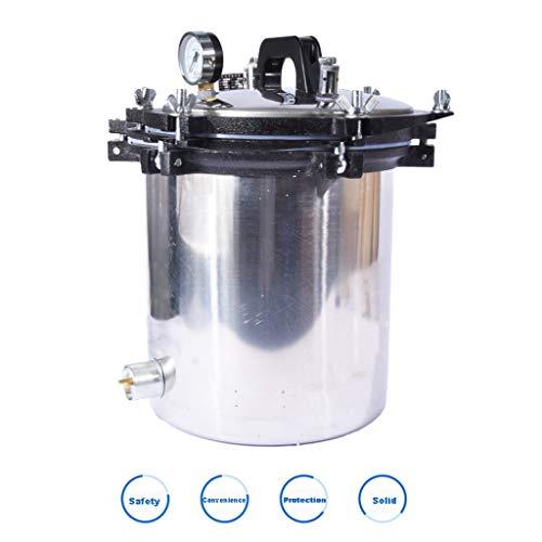 Esterilizador de esterilización de acero inoxidable Experimento de olla Esterilización de vapor Autoclave de esterilización médica a alta temperatura ( tamaño : Height 23.5cm diameter 28cm )