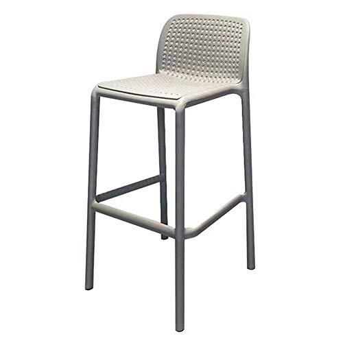 Vrijetijdsbar stoel, Nordic gewoon buiten kunststof barkruk stijl barkruk eenvoudige en elegante (AAA +)