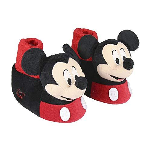 Cerdá 3D Mickey, Zapatillas de Estar por casa para Niños, Negro (Negro C02), 29/30 EU