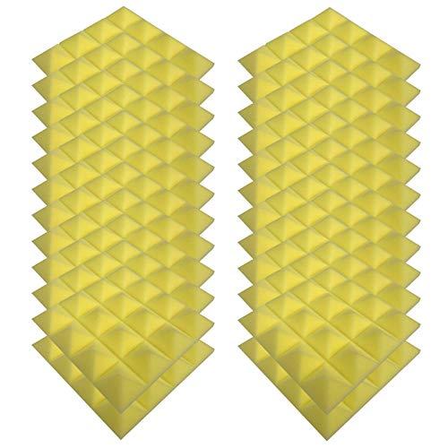 Schallabsorbierende Schaumwand, Schallabsorbierende Baumwolle Für Den Innenbereich Fliesen Dämmung Wanddeko Pyramiden Noppenschaumstoff Breitbandabsorber Decke Foam Feuerhemmend 25x25x5cm 12/24pc