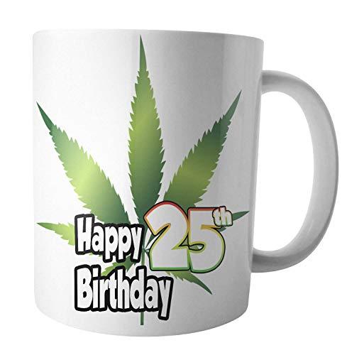 Taza de té y café con diseño de hojas de cannabis marihuana rasta