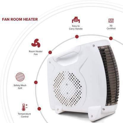 TIAMO 1000/2000-Watt FH 101 FR-101 Fan Room Heater with Instant Heating Feature (Ivory)