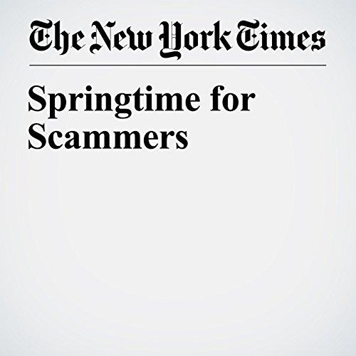 Springtime for Scammers copertina
