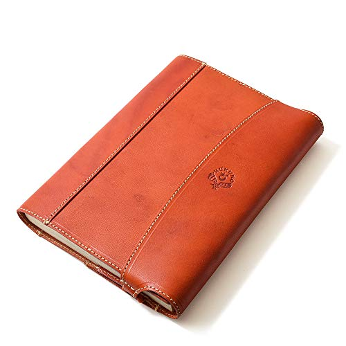 【HUKURO】包んで守る手帳&ブックカバー(ビジネス書/B6サイズ) 本革 栃木レザー(オレンジ)