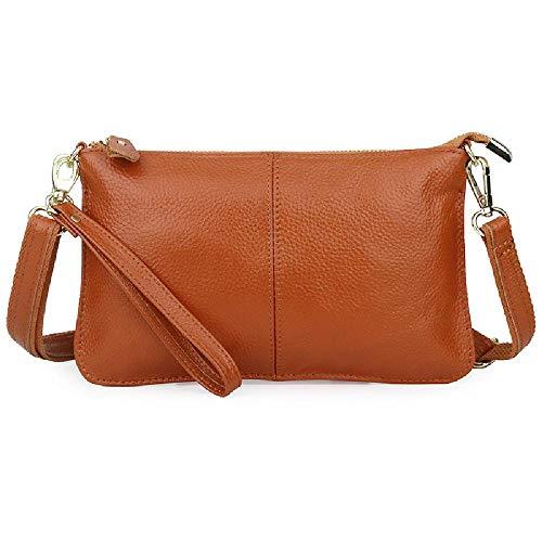 Damen Erste Schicht Rindsleder Damen One Shoulder Messenger Bag Leder Clutch Frauen, - Farbe 8 - Größe: Einheitsgröße
