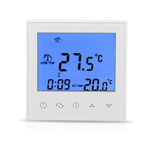 FTVOGUE Digitales LCD-Display, Raumthermostat, Thermostat, NTC Touchscreen, LCD-Thermostat, programmierbar, intelligente Steuerung der Temperatur für zu Hause (01)