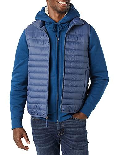 Amazon Essentials Lightweight Water-Resistant Packable Puffer Vest Chaleco de plumón, Azul Índigo, L