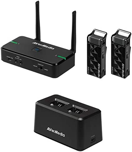 AVerMedia Avermic AW315 Wireless Teacher Microphones Use 2 Microphones Simultaneously One for product image