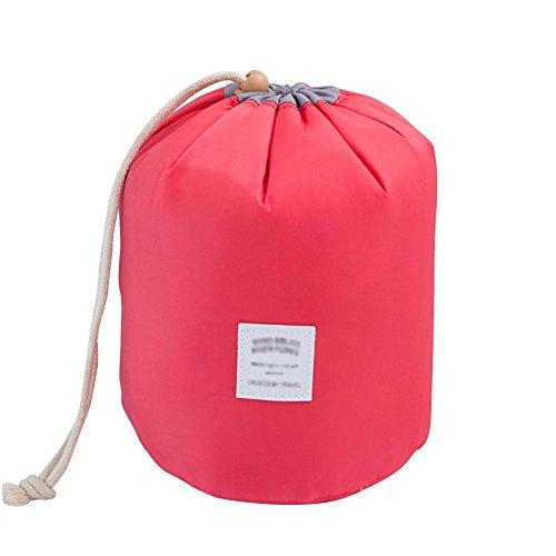 Bodhi2000 Trousse de toilette et maquillage avec cordon de serrage et petite pochette pour les voyages rouge Red taille unique