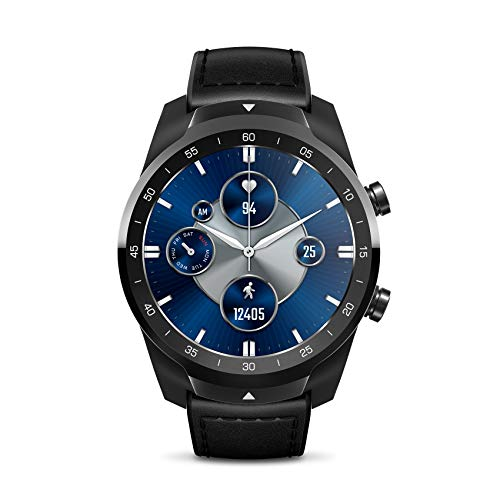 TicWatch Pro S Reloj Inteligente con 1GB de Memoria RAM GPS Incorporado IP68 Impermeable 24 Horas Monitoreo del Ritmo cardíaco Seguimiento del sueño Wear OS by Google Smartwatch