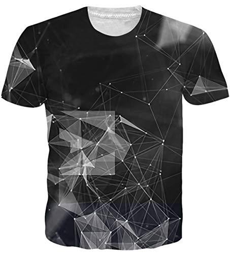 uideazone Teen 3D Hai Print T-Shirt Coole Grafik-T-Shirt