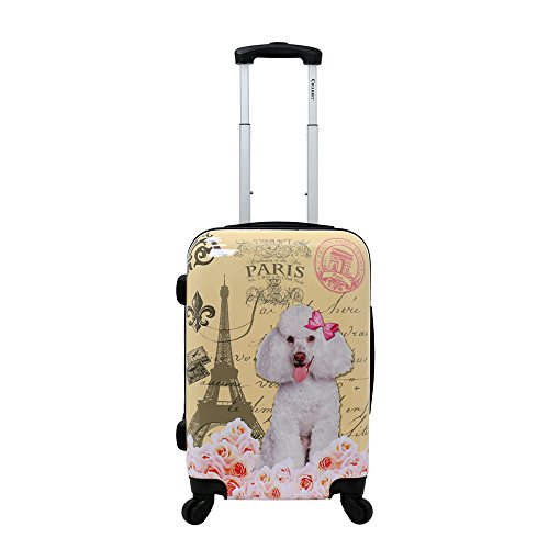 Chariot Hardside 20' Lightweight Spinner Carry-On Luggage-Paris Poodle, One Size