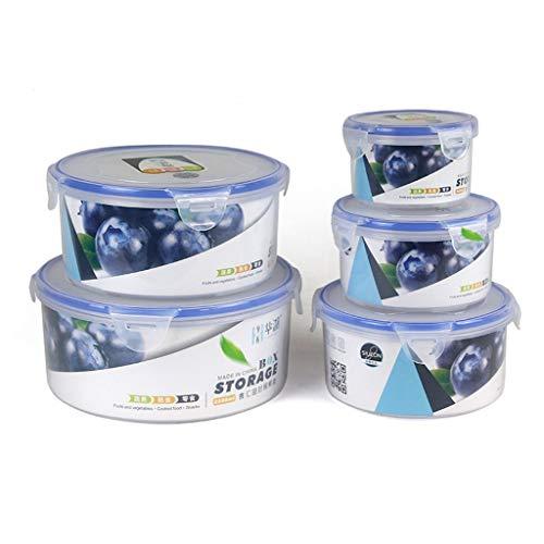 Contenedor de Almacenamiento de Alimentos Nevera Caja de Almacenamiento Caja sellada de la Caja de almacenaje del alimento Caja Redonda de Cuenco de Almacenamiento de plástico Fresco de Mantenimiento