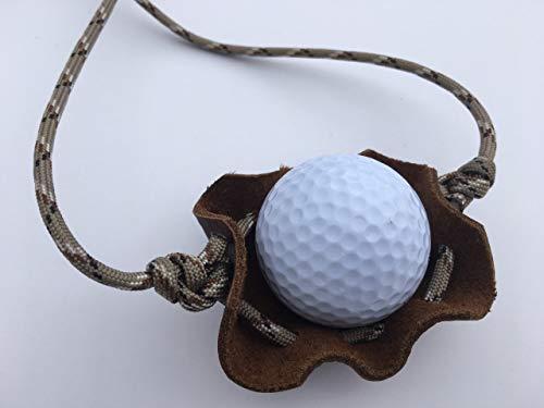 David The Shepherd Golfballwerfer, Paracord und Ledertasche, Schäferhund, handgefertigt