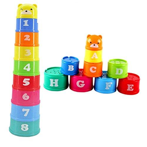 Generic Plastique Empilable Tasses Arc Multicolore Enfant Jouet Educatif Cadeau