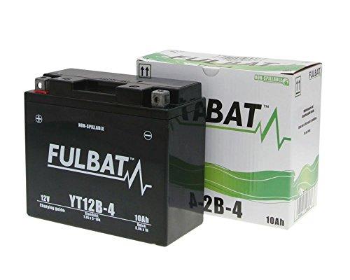 12V 10Ah Gel Power Batterie Akku YT12B-4 (150 x 69 x 130 m) für Motorrad