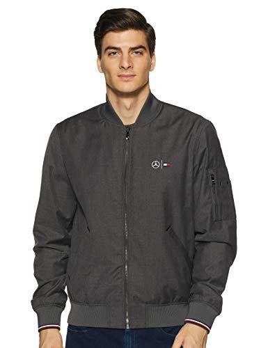 Tommy Hilfiger Men's Varsity Jacket (P0AMO001_Dark Grey Heather_L)