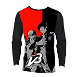 Danganronpa Camiseta Street Style de la Manga Camiseta Slim Fit Deportes Larga de algodón Suave y Transpirable Camiseta de los Hombres Unisex (Color : A02, Size : S)