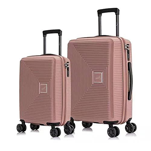 Maleta de cabina, equipaje de mano, trolley con 4 ruedas semirígida, juego de 2 piezas, 20 Pulgadas (56x39x23cm,50L ) , y 18 Pulgada (53x33x20cm,35L) Akofon