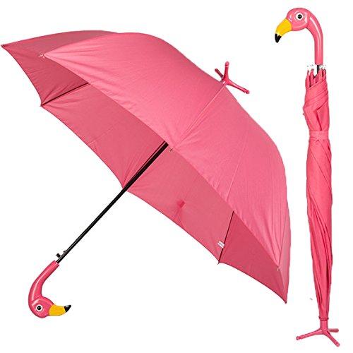 Bada Bing paraplu roze flamingo met voet ca. Ø 96 cm paraplu automatisch kinderen volwassenen trend 60