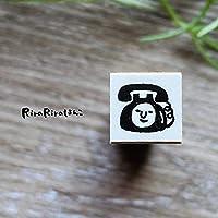 【黒電話】スケジュールはんこ*10㎜角